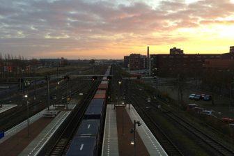 Goederentrein, station Breda Centraal, Brabantroute