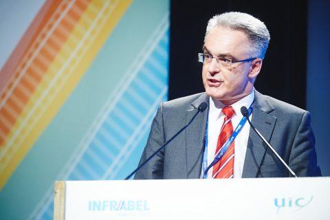Topman Reinhard Bamberger van Rail Cargo Austria AG, foto: Copyright Infrabel – Benjamin Brolet
