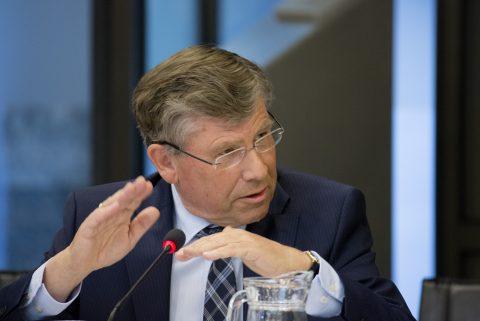 Voorzitter Aart Klompe van KNV Spoorgoederenvervoer, foto: E. Van Berkum