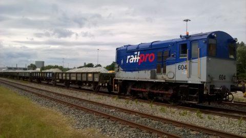 Voestalpine Railpro voert spoorballast aan