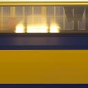 Trein in NS-kleuren