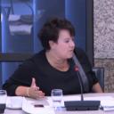 Staatssecretaris Sharon Dijksma tijdens een debat in de Tweede Kamer