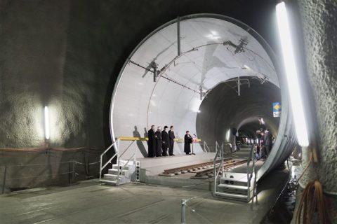 Feestelijke opening Gotthardtunnel, foto: ANP