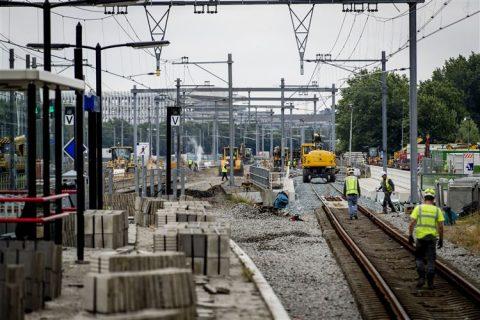 Werkzaamheden Duivendrecht-Schiphol, foto: ANP