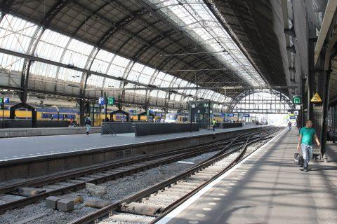 Station Amsterdam Centraal, treinstation