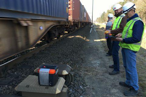 De test van het ATWS 3000 systeem door Strukton Rail