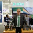 Pieter Dings van DEKRA Rail op de InnoTrans vakbeurs in Berlijn
