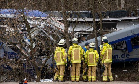 Treinongeluk bij Bad Aibling in Duitsland, foto: ANP