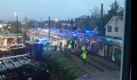 Tramongeluk Londen, foto: ANP