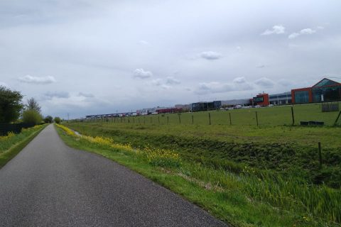 Het beoogde terrein voor de railterminal in Bleiswijk