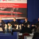 Christian Obexer van Plasser en Theurer, Thomas Moshammer van Siemens AG Oostenrijk, Krzysztof Wilczek van SBB en Peter Juel Jensen van Banedanmark