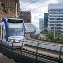 Randstadrail, tramviaduct de Netkous Den Haag, foto: ANP