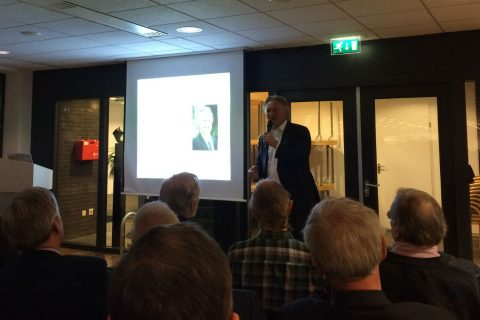 Directeur Pier Eringa bij het jaarcongres van KIVI