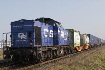 Spoorgoederenvervoerder DistriRail op de verbinding Duisburg-Moerdijk
