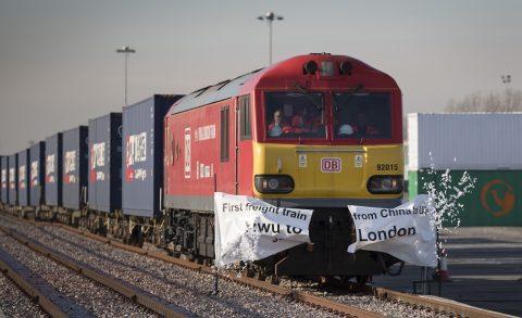 Goederentrein uit China komt aan in Londen