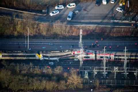 Treinbotsing Luxemburg, foto: Police Grand-Ducale