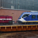 De eerste NS-Sprinter verlaat de fabriek in Spanje, foto: NS