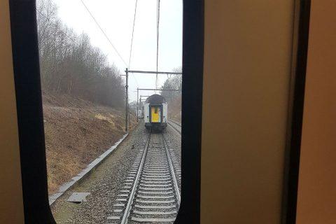 NMBS-trein verliest passagiers, foto: @lesoir