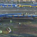 Spoorproject Arnhem met voorgemonteerde wissels