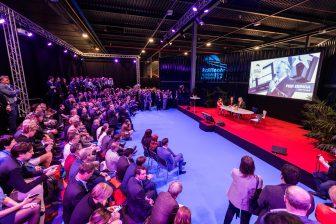 Opening RailTech Europe met Pier Eringa, Roger van Boxtel, Pio Guido en burgemeester Jan van Zanen van Utrecht