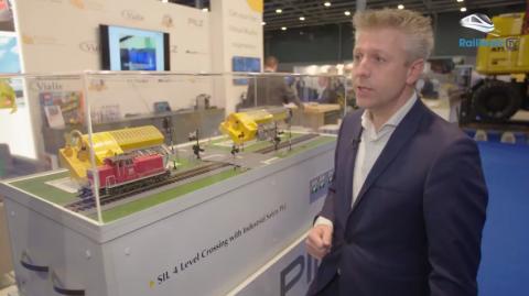 Jan van der Heide van Pilz op RailTech Europe 2017