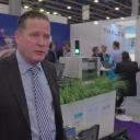 Henk Schomaker van Thales tijdens RailTech Europe