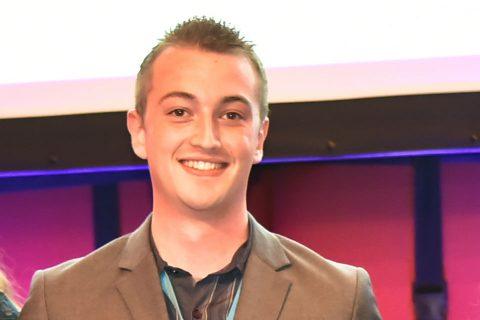 Rowan Vendelbosch, leerling-machinist bij het Scheepvaart en Transport College (STC)