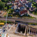 Luchtfoto van de Rastatt Tunnel, foto: Benedikt Spether