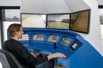 De treinsimulator FAME van Movares bij Railcenter in Amersfoort