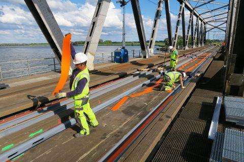 Werkzaamheden Moerdijkbrug, foto: Hans Hendriksen van Sweco