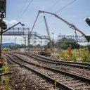 Werkzaamheden in Rastatt in Duitsland, foto: Thomas Niedermüller / Deutsche Bahn