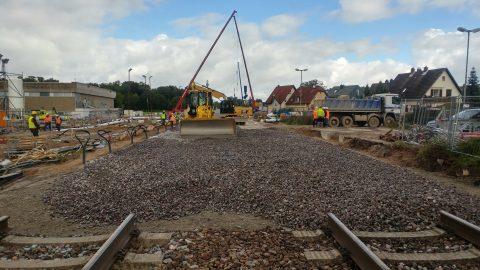 Herstelwerkzaamheden bij Rastatt