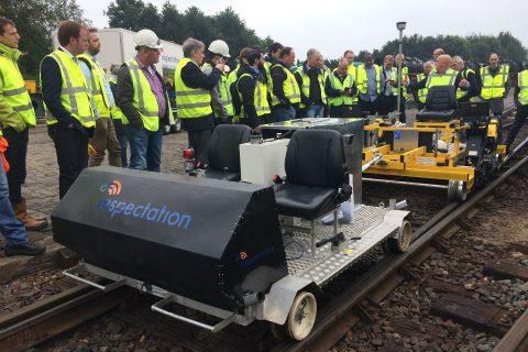 Demonstratie meet-trolley Inspectation