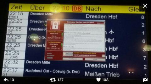 Deutsche Bahn Wanacry virus