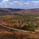 Een goederentrein van Rio Tinto