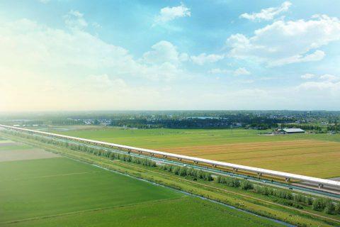 Een testbuis voor de Hyperloop van Hardt, foto: Hardt