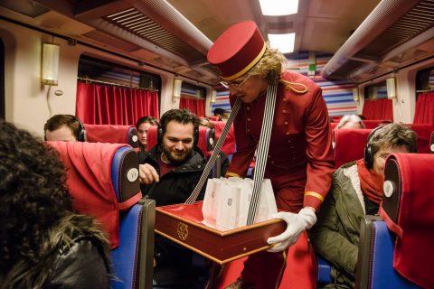 NS Experience Train tijdens International Film Festival Rotterdam, foto: NS