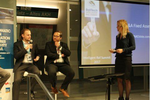 Christian Schlehuber DB Netz AG sprak tijdens de Intelligent Rail Summit 2017