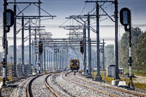 Spoorlijn Hanzelijn, foto: Hollandse Hoogte