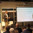Alfons Schaafsma van ProRail gaf een presentatie tijdens de Intelligent Rail Summit 2017