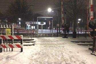 Treinstation Tilburg Universiteit sneeuw winterweer