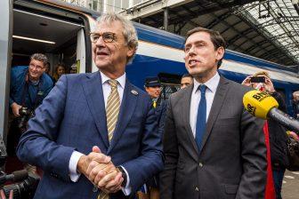NS-directeur Roger van Boxtel en Eurostar-topman Nicolas Petrovic
