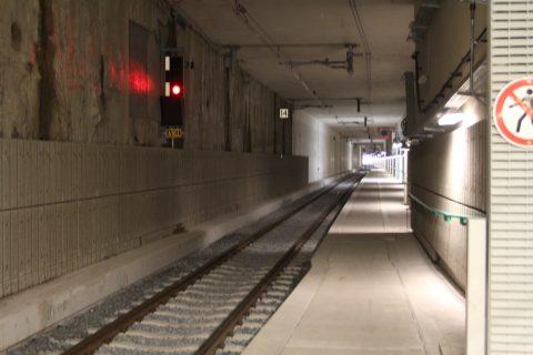 Een van de tunnelbuizen van het treinstation in Delft
