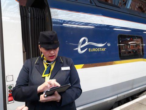 In de Eurostar stappen op St Pancras