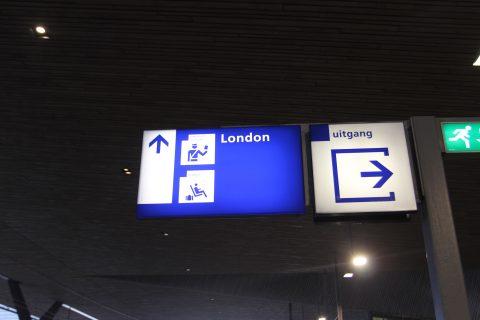 Bordje Eurostar Rotterdam Centraal