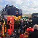 Goederentrein Nunner vertrekt vanuit Amsterdam naar de Chinese stad Yiwu