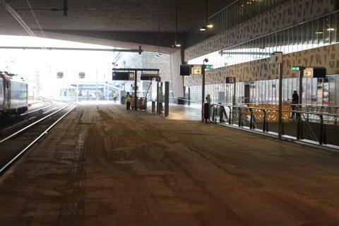 Perron 1 Rotterdam Centraal verbouwd voor Eurostar