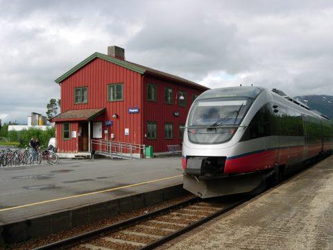 Station Rognan in Noorwegen