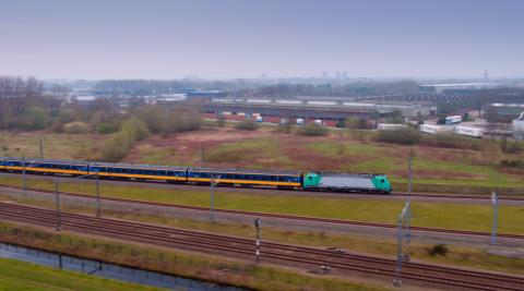 Spoorboog HSL bij Breda