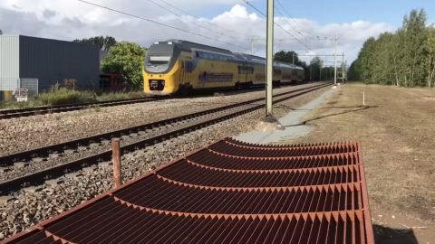 Screenshot video ProRail geluidsschermen